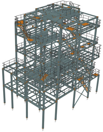 Steel structure for dipping line machinery, Czech Republic