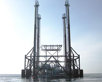 Platformă marină,  Coastele Republicii Congo, vestul Africii