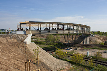 Bicycle and pedestrian bridge, Landau, Germany