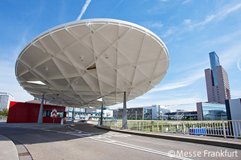 Oval roof at north gate, Frankfurt, Germany