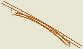 Un nou pod pietonal peste râul INN,  Töging am Inn, Germania