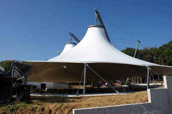 Roof construction for an ice rink, Beaufort, Luxemburg