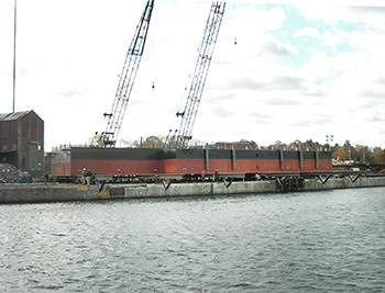 Boston Tea Party steel barge