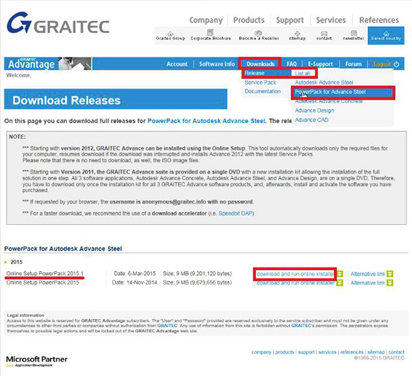 How to download, install & activate GRAITEC PowerPack for Autodesk® Advance Steel