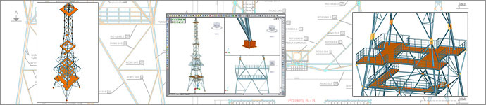 Transmission tower - height 76 M