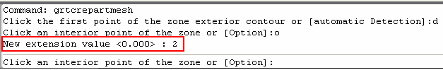 How is the automatic detection option for a fabric outline defined