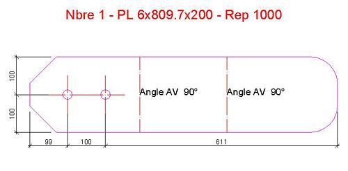 Comment modifier la précision de longueur dans le titre de détail d'un plan de fabrication?