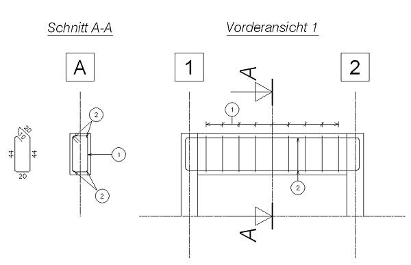 Wie kann ich eine bestimmte Linienstärke für die Dicke von Bewehrungseisen einstellen