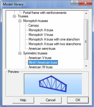 How is a truss modeled in Advance Design