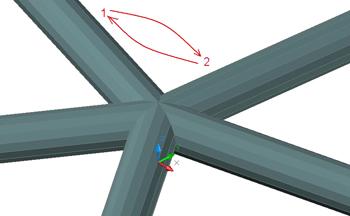 Wie sind Rohre an einem Kreuzungspunkt zu verschneiden