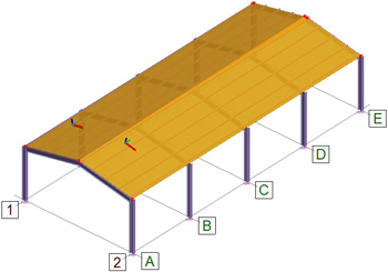 How can I define the windwall load distribution for the roof of a steel structure