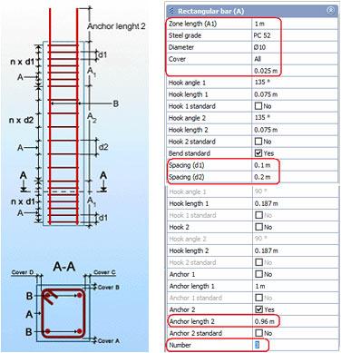 In ce situatii se utilizeaza solutia dinamica Column 1 stirrup - symmetric