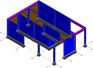 How does the BIM work between Advance Concrete and Advance Design