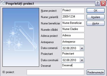 Cum se pot utiliza datele proiectului în cartuş şi în extrasele de armare