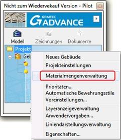 Wie wird eine Liste unter Verwendung der Materialmengenverwaltung erstellt