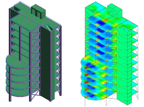 How can a Dynamic rebar solution be applied and modified in Advance Design