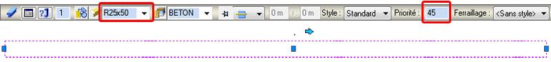 Comment les hachures peuvent être visualisées sur la coupe d'un élément