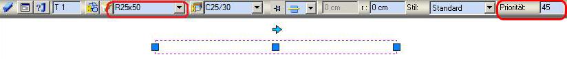 Wie können die Schraffuren in Abhängigkeit vom Elementtyp im Schnitt dargestellt werden