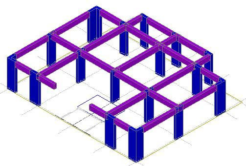 How is an AutoCAD entity converted into a structural element