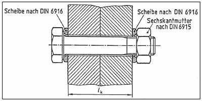 Wo liegen die Unterschiede in der Klemmlängenberechnung bei DIN 6914 und DIN EN 14399-4