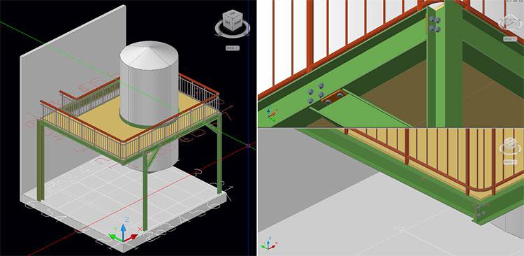 Enhanced Visual Appearance of Advance Steel Models