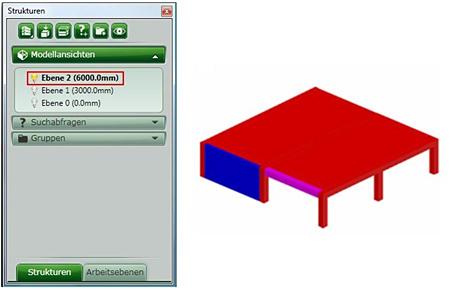 Wie künnen Elemente in Advance Steel gruppiert werden