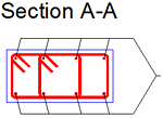 How is a predefined rectangular section created