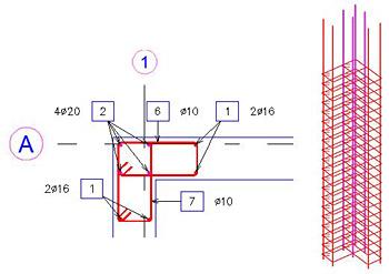 Comment utiliser les Ferraillages Dynamiques sur les intersections de voiles