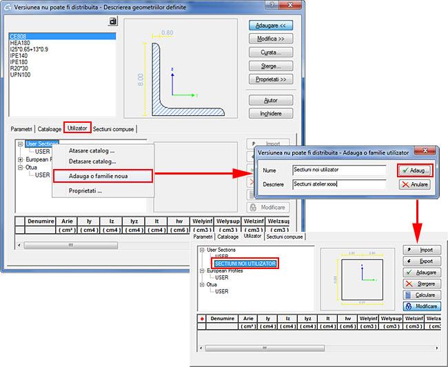 Cum se foloseşte opţiunea de optimizare a secţiunilor ?