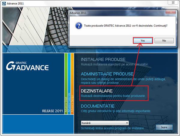 Cum se reinstalează programul Advance Steel 2011 într-o  altă limbă