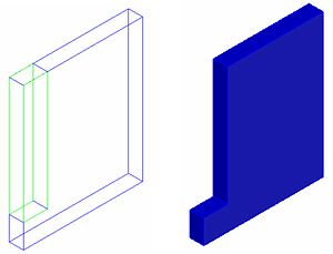 How is a stepped wall created with openings (holes) or using 3D solids