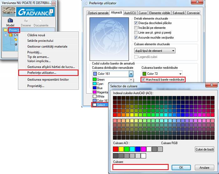 Cum se poate schimba culoarea barelor de armare