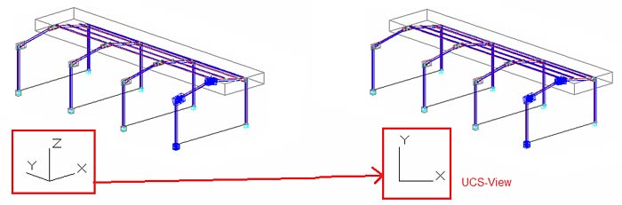 How is an isometric view added to a main part drawing