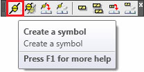 How are symbols / annotations added to the structural elements for a Top/Bottom view