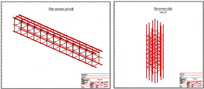 Cum se creează un extras de armare din hârtia de lucru pentru întreg proiectul utilizând opţiunea Multi-Doc?