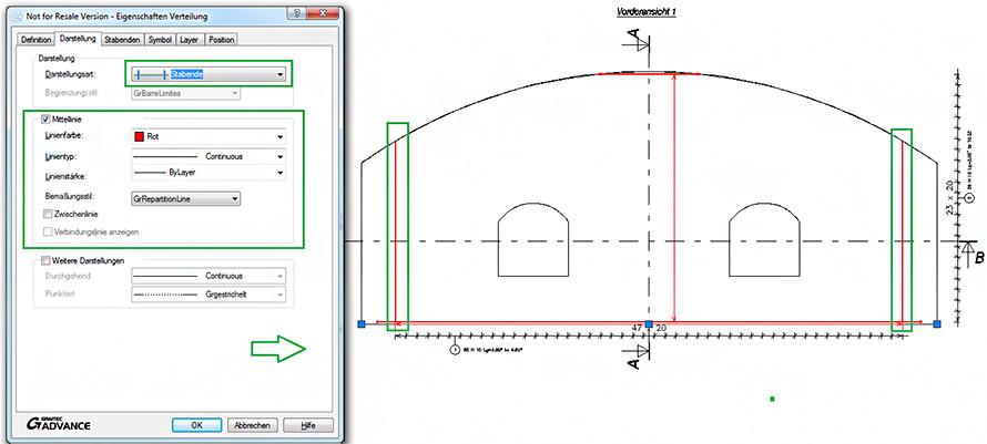 Welche Darstellungsarten sind für lineare und variable Verteilungen verfügbar?