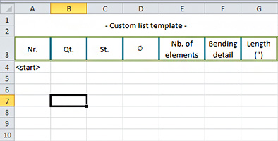 How are Advance Concrete lists exported to Excel?