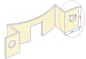 Cum se gestionează golurile într-un extras de materiale pentru structură?