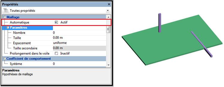 Comment gérer le maillage sur les éléments linéaires ?