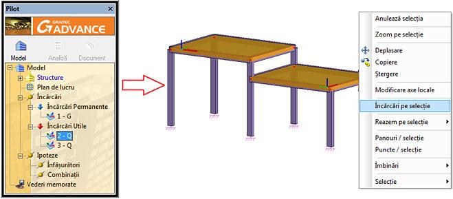 Cum se pot crea rapid încărcări pe elemente liniare şi elemente plane?
