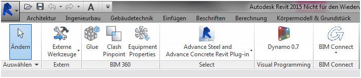 Wie kann ein Modell aus Autodesk Advance Steel nach Autodesk Revit übergeben werden?