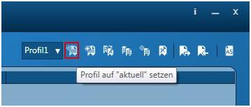 Wie können alle Voreinstellungen in einem neuen Profil gespeichert werden?
