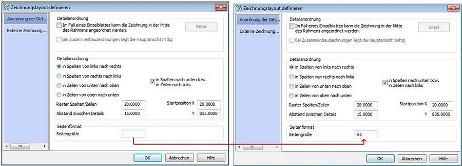 Wie kann das Zeichnungsformat automatisch im Dateinamen geändert werden, wenn der Prototyp geändert wird?