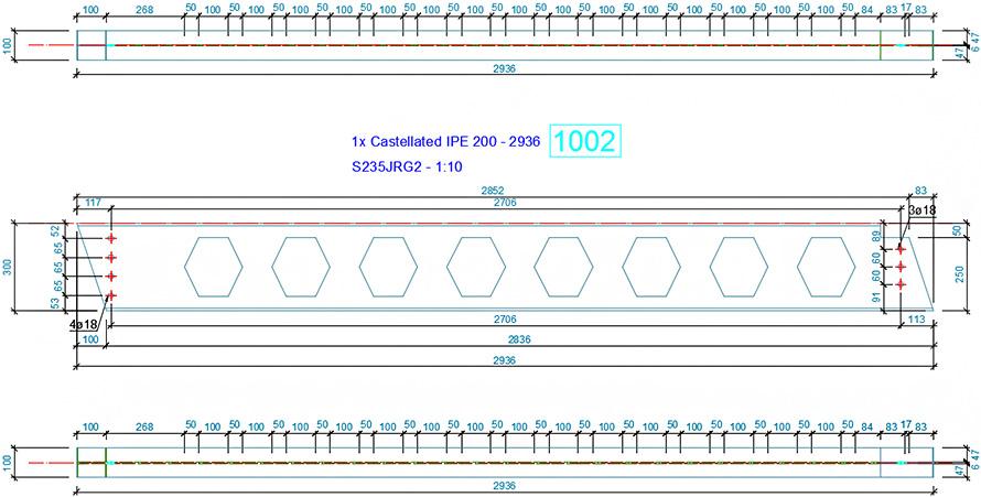 Cum se configurează un stil de detaliere de piesă pentru grinda ajurată?