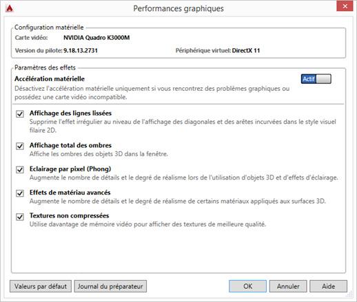 Comment configurer les paramètres d'affichage AutoCAD®?