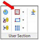 How is created and used a User Section in Advance Steel?