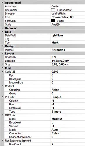 Cum se creează un cod de bare într-un extras de materiale?
