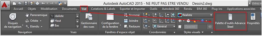 Comment gérer l'affichage de la palette d'outils?