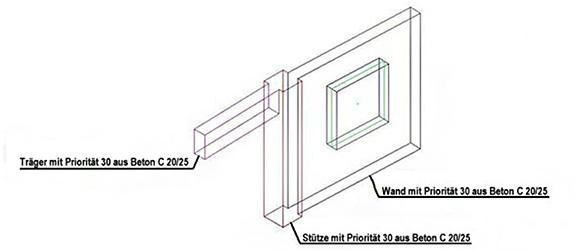 Wie werden die Prioritäten von Betonelementen in Advance Steel verwaltet?