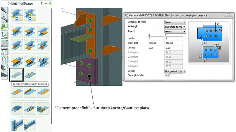 Cum se creează şi cum se utilizează 'Elementele predefinite'?
